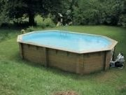 Best Swimming Pool for Garden Doughboy Stretched Octagonal Wooden Pool 4m x 6.4m