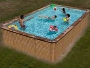 Best Swimming Pool for Garden Zodiac Azteck Maxiwood Rectangular Wooden Pool 2.44m x 4.95m