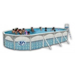 Best Swimming Pool for Garden Toi - Oval Swimming Pool Mosaic 640 x 366 x 120