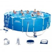 Best Swimming Pool for Garden Bestway Steel Pro 56462 Round Pool Set with Steel Frame 549 x 122 cm