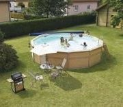 Best Swimming Pool for Garden Zodiac Azteck Maxiwood Round Wooden Pool 4m