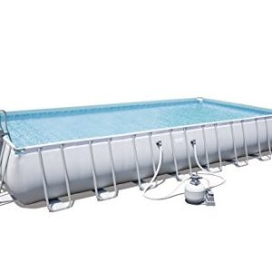 "Best Swimming Pool for Garden 'Bestway Frame Pool ""Power Steel Set Grey 956 x 488 x 132 cm 52.231 L 56623/05"