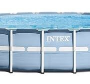 Best Swimming Pool for Garden Intex Frame Swimming Pool Kit PRISM 4 m57 x 1 m07, Light Blue, 457x457x107 cm, 14,614 28734np