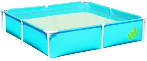 Best Swimming Pool for Garden Bestway Steel Pro My First Frame Pool 1.62m x 1.62m x 35.5cm - above ground pools (Blue, Green, Orange, Frame, Rectangular, Steel, Full color box)