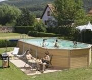 Best Swimming Pool for Garden Zodiac Azteck Maxiwood Oval Wooden Pool 4m x 10.5m