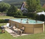 Best Swimming Pool for Garden Zodiac Azteck Maxiwood Oval Wooden Pool 4m x 8.8m