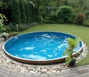 Best Swimming Pool for Garden Zizy Pools Amazing Above Ground Steel Free-Standing Round Swimming Pool - Satinwood Swimming Pool - Available in Two Different Sizes (15 x 4ft)