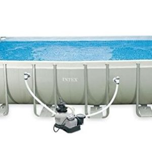 Best Swimming Pool for Garden INTEX 28352UK 52-Inch 18 x 9 ft Rectangular Ultra Frame Pool Set - Grey/Blue