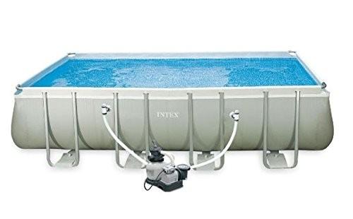 Best Swimming Pool for Garden INTEX 28352UK 52-Inch 18 x 9 ft Rectangular Ultra Frame Pool Set - Grey/Blue