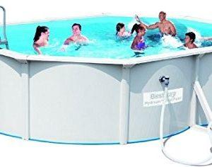 Best Swimming Pool for Garden Bestway Hydrium StahlwandPool oval with Sandfilterpumpe 500 x 360 x 120 CM White