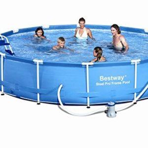 Best Swimming Pool for Garden Bestway 15ft Steel Frame Pool Set Filter Pump, Cover, Ladder & Maintenance Kit