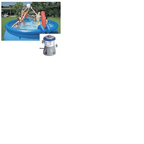 Best Swimming Pool for Garden Bestway 10ft Fast Set Pool Set (Pool & 330 Pump) With Volleyball Net