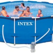 Best Swimming Pool for Garden Intex Pool Frame Pool Set Rondo, TÜV/GS, Blue, Diameter 457 x 122 cm