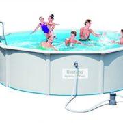 Best Swimming Pool for Garden Bestway Hydrium StahlwandPool Set Round with 1500 gal filter pump#54452 460 x 120 CM White
