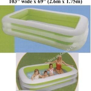 Best Swimming Pool for Garden 8.5ft long kids childs family garden paddling pool. Big Inflatable water pool