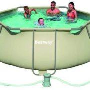 Best Swimming Pool for Garden Tubular Swimming Pool bestway Hexagonal steel pro 56199FR 3.56 x 1.00 m