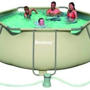 Best Swimming Pool for Garden Tubular Swimming Pool bestway Hexagonal steel pro 56199FR 3.56 x 1.00 m