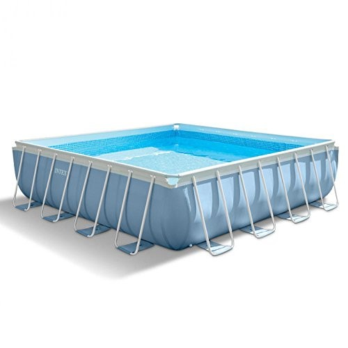 Best Swimming Pool for Garden Intex 28764Prism Frame Pool Complete Set with GS Pump, 427X427X107CM