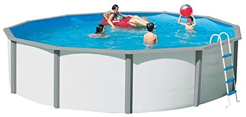 Nuovo steel wall pool set duo 350 x 120 cm best for Swimming pool 120 cm tief