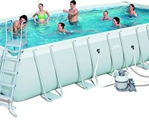"""Best Swimming Pool for Garden Bestway Steel Pro Rectangular Frame Pool With Pump 24' x 12' x 52"""" - 56475"""