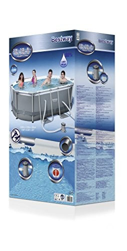 Bestway Frame Pool Quot Power Steel Place Mat Oval Grey