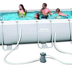 """Best Swimming Pool for Garden Bestway Power Steel Rectangular Frame Pool With Pump 159"""" x 79"""" x 39 1/2"""" - BW56441"""