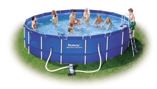 Bestway steel pro frame pool set blue 18 ft 23 062l for Show zfs pool version