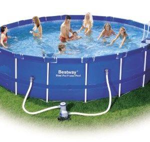 Best Swimming Pool for Garden Bestway Steel Pro Frame Pool Set - Blue, 18 Ft (23,062L) (Old Version)