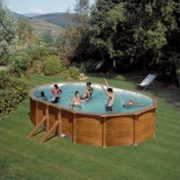 Best Swimming Pool for Garden Pool Steel Wall Wood Effect