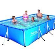 Best Swimming Pool for Garden Bestway 157 x 83 x 32-inch Family Splash Frame Pool