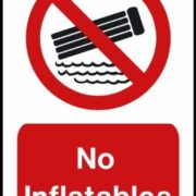 Best Swimming Pool for Garden Swimming pool safety sign: No Inflatables A3 size on Aluminium