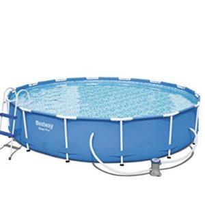 Best Swimming Pool for Garden Bestway Steel Pro 4.27m x 84cm, Blue - above ground pools (Blue, Blue, Frame, Round, PVC, Steel, CE, TÜV Rheinland)