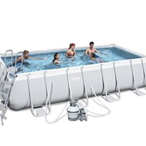 """Best Swimming Pool for Garden Bestway Power Steel Pro Rectangular Frame Pool With Pump 16FT X 9FT X 48"""" - 56390"""