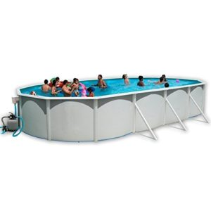 Best Swimming Pool for Garden White Coral Oval Steel Pool 9.15m x 4.57m
