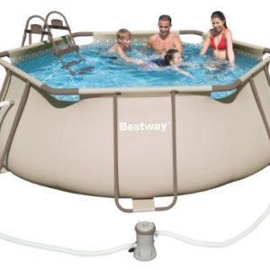 Best Swimming Pool for Garden BESTWAY Steel Pro Frame Kit Exagonale BESTWAY Swimming Pool