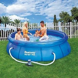 Best Swimming Pool for Garden Bestway 10ft x 30in Fast Set Swimming Pool with Filter Pump #57109