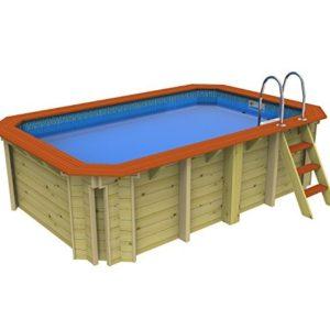 Best Swimming Pool for Garden Wooden Exercise Wooden Pool Without Counter Current 2.4m x 3.9m