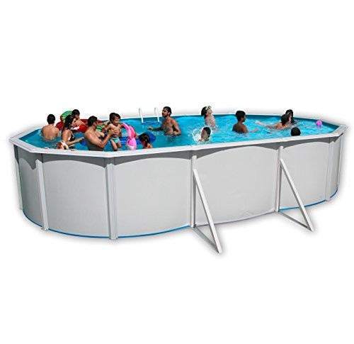 Best Swimming Pool for Garden White Coral Oval Steel Pool 6.4m x 3.66m
