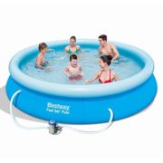 Best Swimming Pool for Garden BestWay 12ft X 30 Inch Fast Set Inflatable Swimming Pool Paddling Swimming Pool With Filter Pump