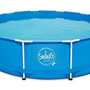Best Swimming Pool for Garden Ambientehome Frame Swimming Pool with Filter Pump, Blue, 305 x 305 x 76 cm - 4542 26028