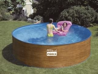 Best Swimming Pool for Garden san marina menorca steel wall wood effect pool 3,50 x 0,90 m