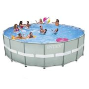 "Best Swimming Pool for Garden Intex 18ft x 52"" Ultra Frame Above Ground Pool with Sand Filter & Saltwater System and Accessories (28336)"