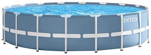 Best Swimming Pool for Garden Intex Frame Swimming Pool Kit PRISM 5m49x 1M22, Light Blue, 549x549x122cm, 24,31128752np
