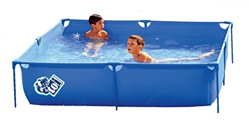 Best Swimming Pool for Garden Pools Toi 3153-Paddling Pool Square 120x 120x 35cm, Blue