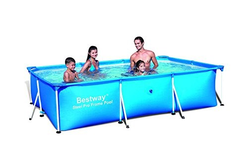 bestway 118 x 79 x 26 steel pro frame pool 56043 best. Black Bedroom Furniture Sets. Home Design Ideas