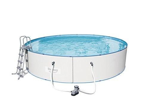 Bestway hydrium splasher white steel wall pool set 549 x for Swimming pool 120 cm tief