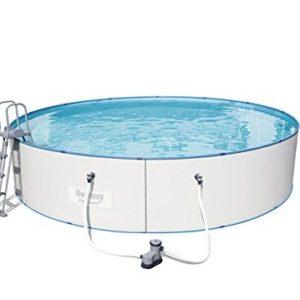 "Best Swimming Pool for Garden Bestway Hydrium ""Splasher, White Steel Wall Pool Set 549x 549x 120cm 27.221L 56611/05"