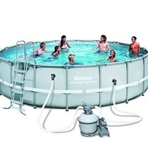 "Best Swimming Pool for Garden Bestway Power Steel Frame Round Pool 18ft x 52"" - 56464"