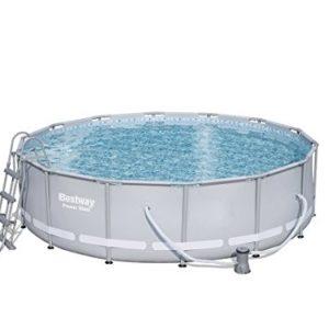 "Best Swimming Pool for Garden 'Bestway Frame Pool Power Steel Set, Gray, 12.5""x 12.5x 4215.232L 56641/05"