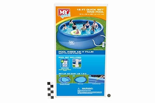 Best Swimming Pool for Garden 15Ft Foot Quick Set Ring Pool with Filter Pump
